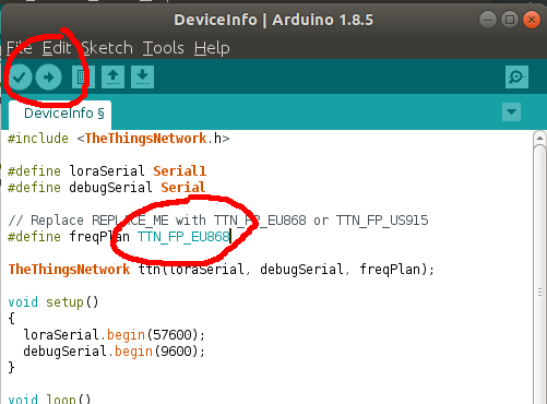 ThingsNode DeviceInfo sketch